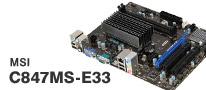省電力で拡張性に優れる、ファンレスマザーボード「C847MS-E33」