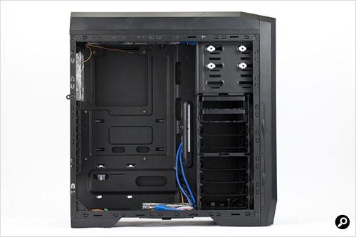 3R SYSTEM T100-BK 本体側面およびケース内部