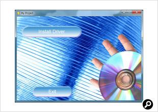 ドライバディスクを挿入してソフトをインストールする