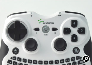 ゲームパッド部分のボタン配列