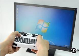 マウス操作は、Air Keyboard Conqueror AK08 Whiteを直接動かして行う