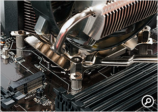 V8 GTSは六角ナットでクーラー本体を固定する