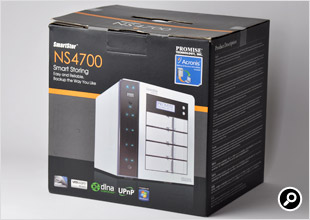 NS4700 8TBモデルの製品パッケージ