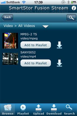 動画ファイルはサムネイルの表示も可能