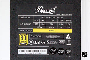 3Rosewill CAPSTONE450W 電源仕様