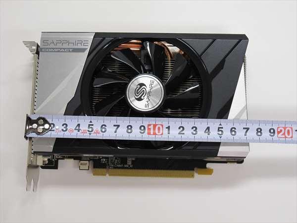 AMD Radeon R9 285搭載グラフィックスボードですが、ボードの長さは、171mm、