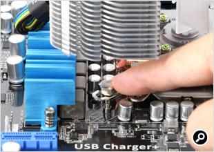CNPS14Xをマザーボードに固定する