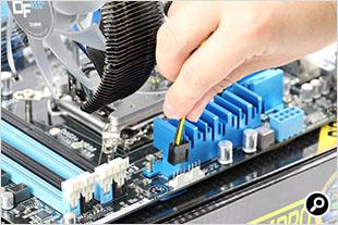 CPUファン電源へ分岐ケーブルを接続