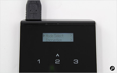 タッチパネルの「Menu」ボタンをタッチ