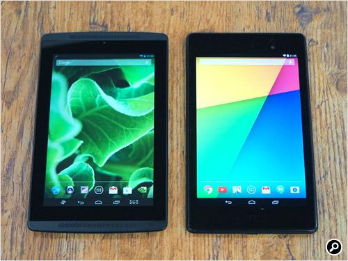 Nexus7(2013)(左)と大きさを比較したところ