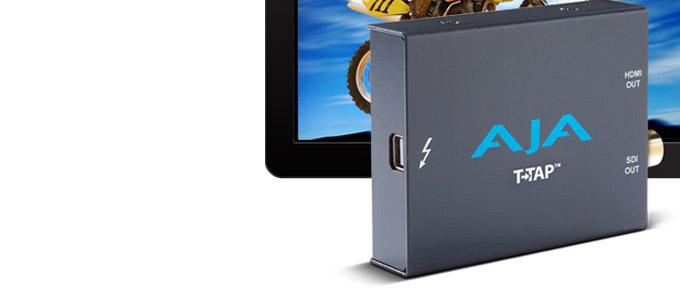 AJA Video Systems社、Thunderbolt接続のコンパクトなメディア出力デバイス「T-TAP」を発表