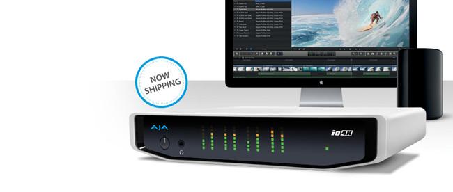 AJA Video Systems社製、Thunderbolt 2搭載、HD~4Kに対応した入出力デバイス「Io 4K」の出荷を開始