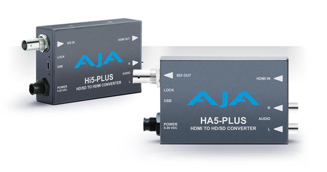 AJA Video Systems社、NAB 2014にて新しいミニコンバータ「Hi5-Plus」と「HA5-Plus」を発表