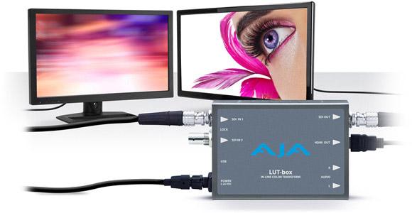 AJA Video Systems社、正確なカラーやルックマネージメントを可能にするミニコンバーター「LUT-box」を発表