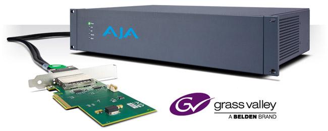 AJA Video Systems社、Grass Valley社とのデベロッパーパートナーシップを発表