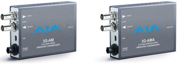 AJA Video Systems社、3G-SDIに対応するミニコンバーター「3G-AM」と「3G-AMA」を発表