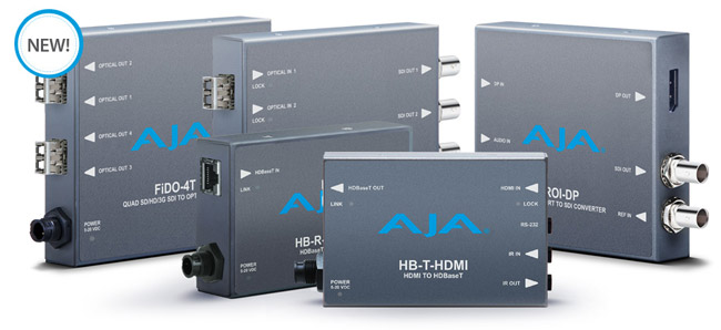 AJA Video Systems社、InfoComm 2015でミニコンバーターの新製品を発表
