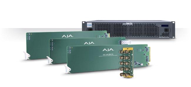 AJA Video Systems社、openGear®準拠のラックフレームとカードを発表