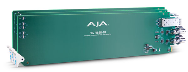 AJA Video Systems社、InterBEE 2015で新しいopenGear®対応ラックカードを発表