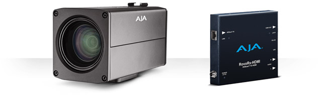 AJA Video Systems社、HDBaseTを統合したUltraHD/HDカメラ「RovoCam」を発表。ビデオやオーディオ、コントロール、電力を1本のケーブルで供給