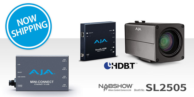AJA Video Systems社、RovoCam、RovoRx-HDMI、Mini-Connectの出荷を開始