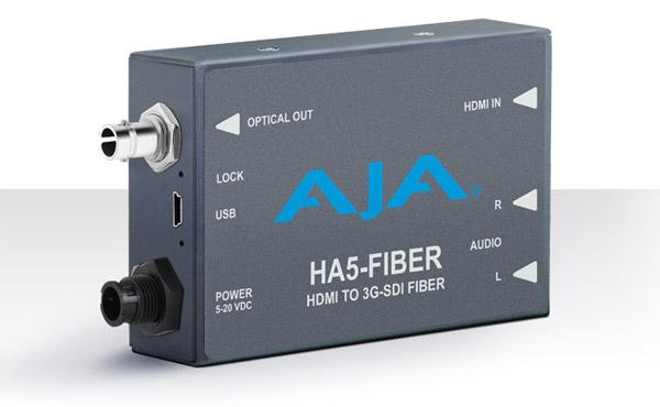 AJA Video Systems社、InfoComm 2016で新しいミニコンバーターHA5-Fiberを公開