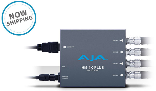 AJA Video Systems社、Hi5-4K-Plusの日本国内出荷を開始