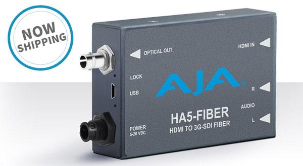 AJA Video Systems社、HA5-Fiberの日本国内出荷を開始