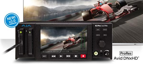 AJA Video Systems社、Ki Pro UltraにAvid DNxHDを追加サポートした新しいファームウェアを発表