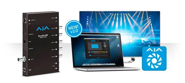 AJA Video Systems社、RovoControl v2.0ソフトウェアの公開とRovoRx-SDIレシーバーの出荷を開始、HDBaseTカメラRovoCamのワークフローが進化