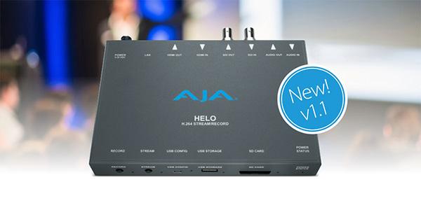 AJA Video Systems社、HELO v1.1ファームウェアを発表