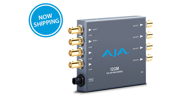AJA Video Systems社、12G-SDI対応のマルチ/デマルチプレクサー「12GM」の出荷を開始