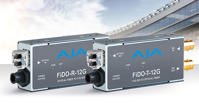 AJA Video Systems社、12G SDI/光ファイバー変換に対応した新しいFiDOミニコンバーターシリーズをIBC 2017で発表