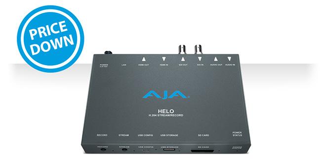 AJA Video Systems社、HELO、Io XT、T-TAP、U-TAP SDI、U-TAP HDMIの日本販売価格を値下げ