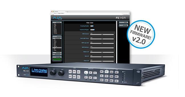 AJA Video Systems社、FS-HDR v2.0ソフトウェアを公開