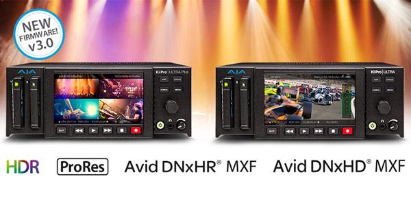 AJA Video Systems社、Avid DNxHRに対応したKi Pro UltraとKi Pro Ultra Plusファームウェア v3.0を発表