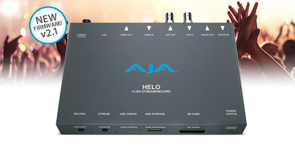 AJA Video Systems社、HELOのファームウェア v2.1をNAB 2018で発表