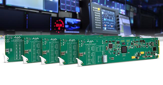 AJA Video Systems社、DashBoardに対応した5種類のOpenGearカードの新製品をNAB 2018で発表
