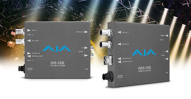AJA Video Systems社、12G-SDIコンバーター「Hi5-12G」と「HA5-12G」をInfoComm 2018で発表