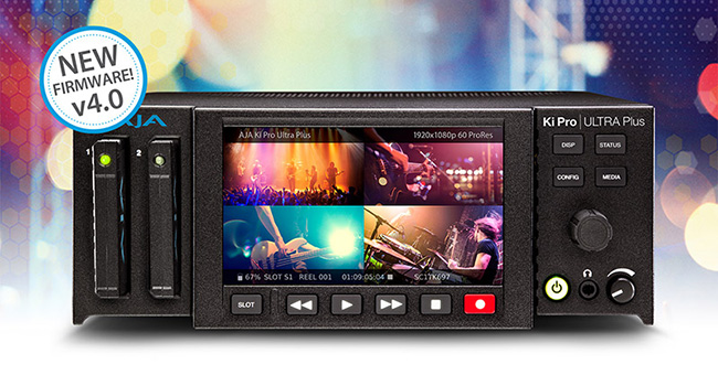 AJA Video Systems社、Ki Pro Ultra Plusのファームウェア v4.0をIBC 2018で発表