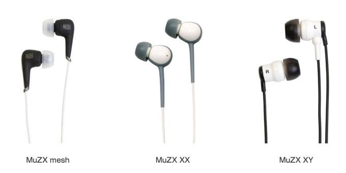 AltecLansing社製イヤホンのダイナミック型ドライバー採用「MuZXシリーズ」