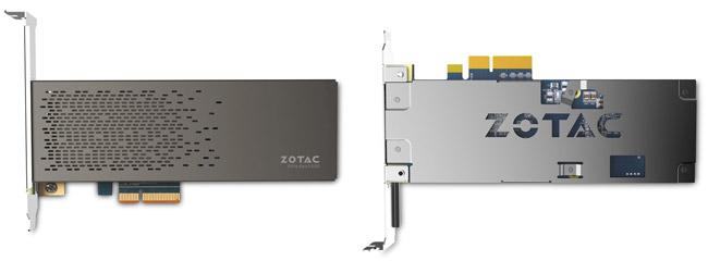 システムドライブにZOTAC製の最大2,600MB/sの読込速度を誇るNVMe対応のPCI Express接続SSDを搭載