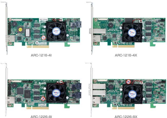 Areca ARC-12x6シリーズ 製品画像