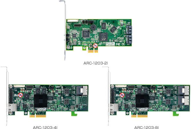 Areca ARC-1203シリーズ 製品画像