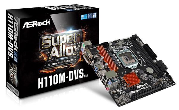 ASRock H110M-DVS R3.0 製品画像