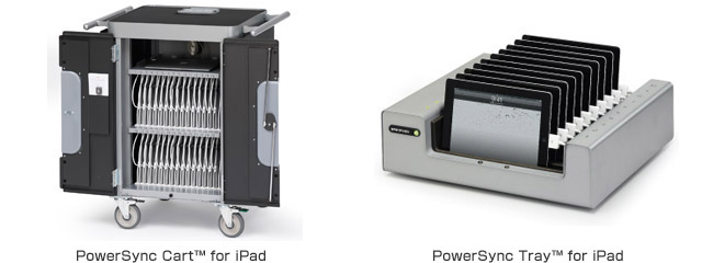 PowerSync Cart™ for iPad、PowerSync Tray™ for iPad 製品画像