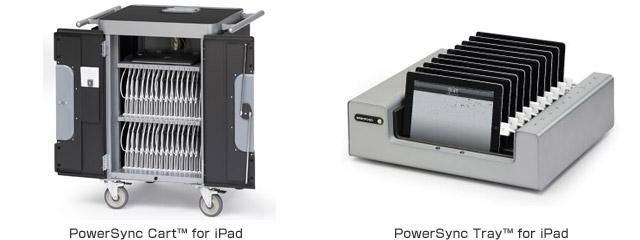 PowerSync Cart™ for iPad、PowerSync Tray™ for iPad 製品画像
