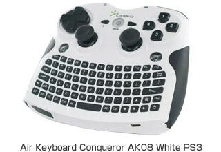 Air Keyboard Conqueror AK08 White PS3 製品画像