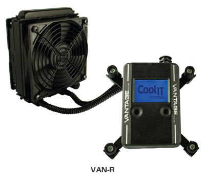 CoolIT Systems社製、FANコントロールおよび、ポンプコントロール一体型水冷キット「Vantage」