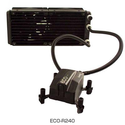 CoolIT Systems社製、240㎜大型ラジエーター搭載「ECO-R240 」